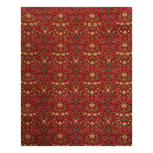 08' 00''x10' 01'' Coral Green Gold Color Hand Knotted Persian 100% Wool Traditional Oriental Rug