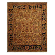 08' 00''x10' 00'' Gold Charcoal Rose Color Hand Knotted Persian 100% Wool Traditional Oriental Rug