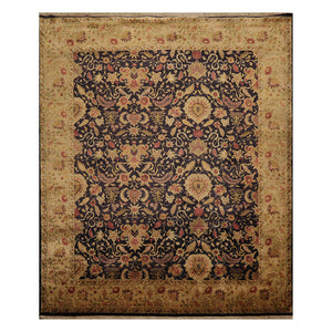 08' 02''x09' 10'' Charcoal Olive Beige Color Hand Knotted Persian 100% Wool Traditional Oriental Rug