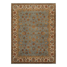 08' 07''x11' 08'' Slate Beige Gold Color Hand Knotted Persian 100% Wool Traditional Oriental Rug