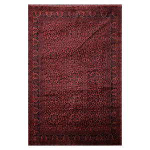 06' 05''x09' 08'' Burgundy Black Beige Color Hand Knotted Persian 100% Wool Traditional Oriental Rug