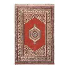 06' 06''x09' 09'' Teracotta Beige Blue Color Hand Knotted Persian 100% Wool Traditional Oriental Rug
