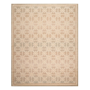 08' 01''x09' 09'' Beige Tan Sage Color Hand Knotted Persian 100% Wool Traditional Oriental Rug