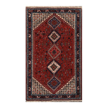 04' 09''x08' 03'' Red Ivory Navy Color Hand Knotted Persian 100% Wool Traditional Oriental Rug