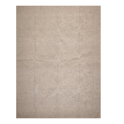 09' 02''x12' 02'' Tone On Tone Taupe Color Hand Knotted Hand Made 100% Wool Modern & Contemporary Oriental Rug