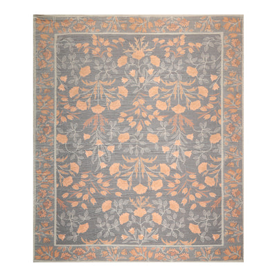 08' 00''x10' 00'' Slate Mint Caramel Color Hand Made Persian Polyester Traditional Oriental Rug