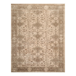 09' 00''x12' 00'' Tan Gray Brown Color Hand Tufted Persian 100% Wool Traditional Oriental Rug