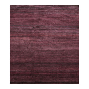 7' x9'  Tone on Tone Aubergine Color Hand Knotted Persian 100% Wool Modern & Contemporary Oriental Rug