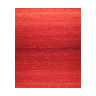 7' x10' 10'' Tone on Tone Coral Color Hand Tufted Persian 100% Wool Modern & Contemporary Oriental Rug
