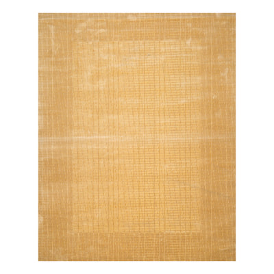 7' x11'  Tan Beige Color Machine Made Persian Wool and Bamboo Silk Modern & Contemporary Oriental Rug