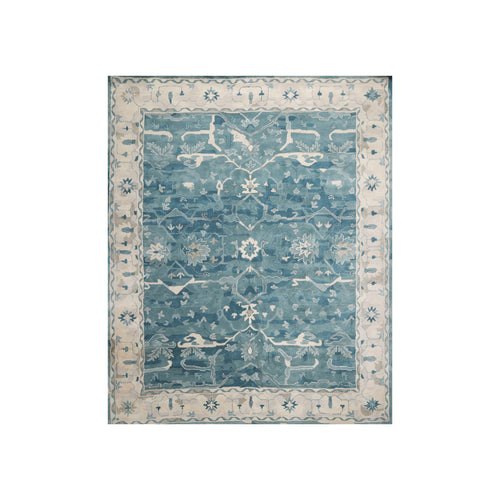 8' x10'  Blue Beige Gray Color Hand Tufted Persian 100% Wool Traditional Oriental Rug