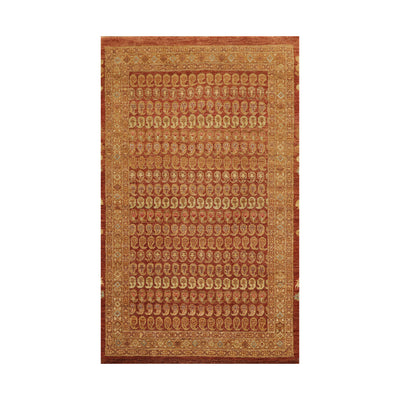 3' 11''x6'  Rust Tan Brown Color Hand Knotted Persian 100% Wool Traditional Oriental Rug