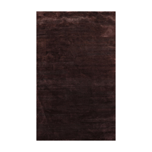 6' x9'  Dark Chocolate Color Hand Knotted Persian 100% Wool solid Oriental Rug