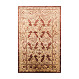 4' x6'  Brown Copper Moss Color Hand Knotted Persian 100% Wool Traditional Oriental Rug