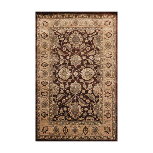 4' x6'  Dark Chocolate Taupe Gray Color Hand Knotted Persian 100% Wool Traditional Oriental Rug
