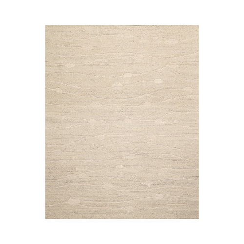 5' x8'  Oatmeal Color Hand Knotted Flat Pile 100% Wool Modern & Contemporary Oriental Rug