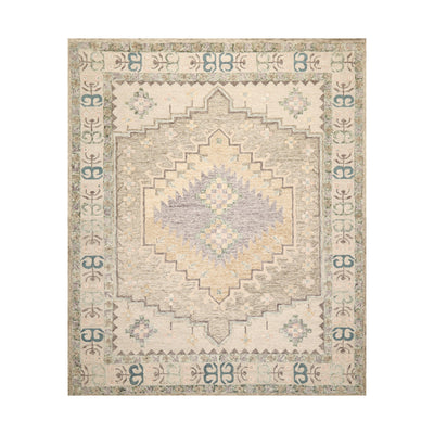8' x10'  Beige Tan Sage Color Hand Tufted Persian 100% Wool Traditional Oriental Rug