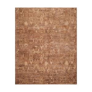 7' x9'  Tan Brown Gray Color Machine Made Persian New Zealand Wool & Art Silk Modern & Contemporary Oriental Rug