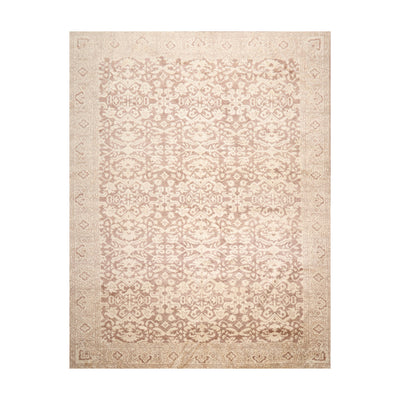 9' x12'  Beige Taupe Brown Color Hand Knotted Tibetan 100% Wool Traditional Oriental Rug