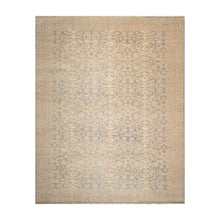 10' x14'  Beige Blue Muted Earth Tones Color Hand Knotted Persian 100% Wool Traditional Oriental Rug