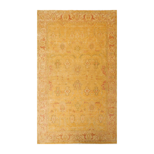 6' x9'  Gold Sage Beige Color Hand Knotted Persian 100% Wool Traditional Oriental Rug