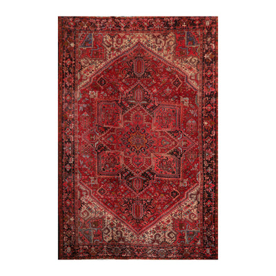 10' 2''x13' 8'' Rust Red Beige Color Hand Knotted Persian 100% Wool Traditional Oriental Rug