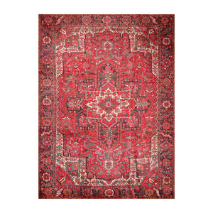 9' 7''x13' 5'' Red Charcoal Green Color Hand Knotted Hand Made 100% Wool Traditional Oriental Rug