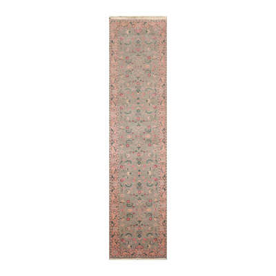 2' 6''x9' 10'' Mint Pale Pink Green Color Hand Knotted Persian 100% Wool Traditional Oriental Rug
