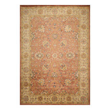 10' x14'  Burnt Orange Gold Gray Color Hand Knotted Persian 100% Wool Traditional Oriental Rug
