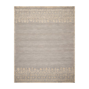 8' x10'  Gray Beige Color Hand Tufted Persian 100% Wool Modern & Contemporary Oriental Rug