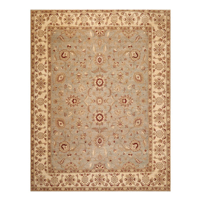 8' 1''x10'  Gray Ivory Brown Color Hand Knotted Persian 100% Wool Traditional Oriental Rug