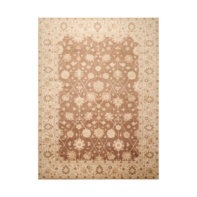 8' 10''x12' 2'' Brown Beige Rust Color Hand Knotted Persian 100% Wool Traditional Oriental Rug