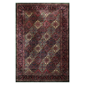 6' 5''x9' 6'' Plum Blue Beige Color Hand Knotted Persian 100% Wool Traditional Oriental Rug