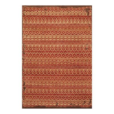 6' 1''x9'  Teracotta Light Gold Brown Color Hand Knotted Persian 100% Wool Traditional Oriental Rug
