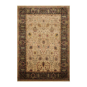 9' x12' 4'' Beige Black Sage Color Hand Knotted  100% Wool Traditional Oriental Rug