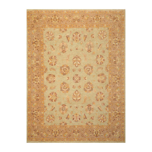 8' x10' 4'' Pistacchio Rust Gray Color Hand Knotted Persian 100% Wool Traditional Oriental Rug