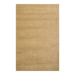 6' x9'  Olive Color Hand Knotted Tibetan 100% Wool Modern & Contemporary Oriental Rug