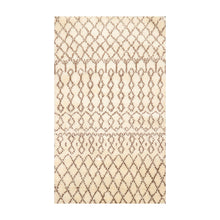 3' x5'  Ivory Brown Color Hand Made Shag 100% Wool Modern & Contemporary Oriental Rug