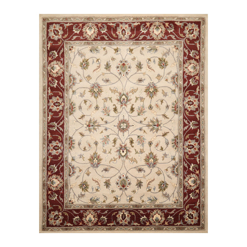 8' x10'  Beige Wine  Gray Color Hand Tufted Hand Made 100% Wool Traditional Oriental Rug