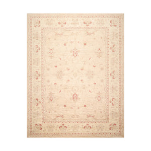 8' 10''x11' 2'' Oatmeal Ivory Rust Color Hand Knotted Persian 100% Wool Traditional Oriental Rug