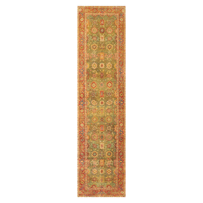 2' 10''x10' 3'' Mustard Burnt Orange Gold Color Hand Knotted Persian 100% Wool Traditional Oriental Rug