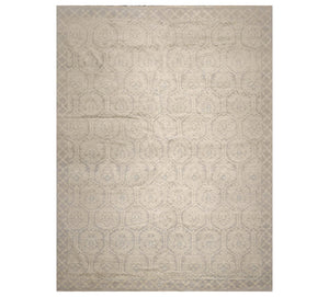 10' 3''x14'  Gray Beige Slate Color Hand Knotted Persian 100% Wool Transitional Oriental Rug