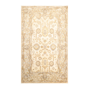 3' 11''x6' 1'' Beige Gray Caramel Color Hand Knotted Persian 100% Wool Traditional Oriental Rug