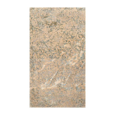 3' x4' 10'' Beige Tan Slate Color Hand Knotted Tibetan Wool and Silk Modern & Contemporary Oriental Rug