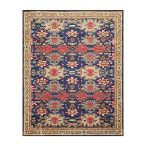 8' 9''x11' 9'' Blue Beige Mint Color Hand Tufted Hand Made 100% Wool Traditional Oriental Rug