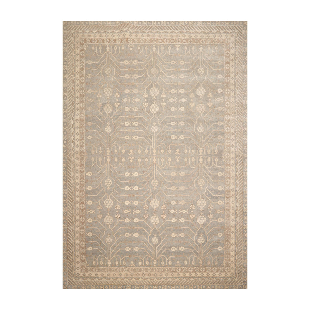 9' 6''x13' 6'' Gray Beige Brown Color Hand Tufted Hand Made 100% Wool Transitional Oriental Rug