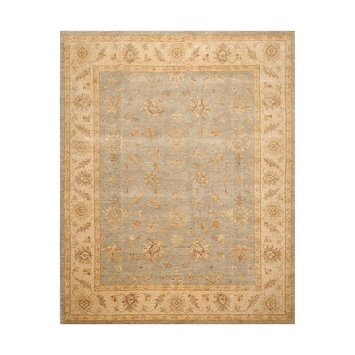 8' 1''x10' 1'' Gray Beige Brown Color Hand Knotted Persian 100% Wool Traditional Oriental Rug