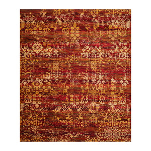 7' x9'  Red Burgundy Gold Color Machine Made Persian 100% Wool Traditional Oriental Rug