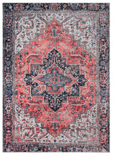 "7' 9""x9' 9"" Rust Ivory Black Color Hand Woven Micro Printed Polyester Traditional Oriental Rug"