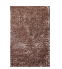 5' x7'  Brown Color Machine Made Shag Polypropylene solid Oriental Rug